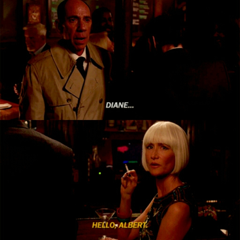 """""""I have assigned a secretary. Her name is Diane... She seems an interesting cross between a saint and a cabaret singer. """""""
