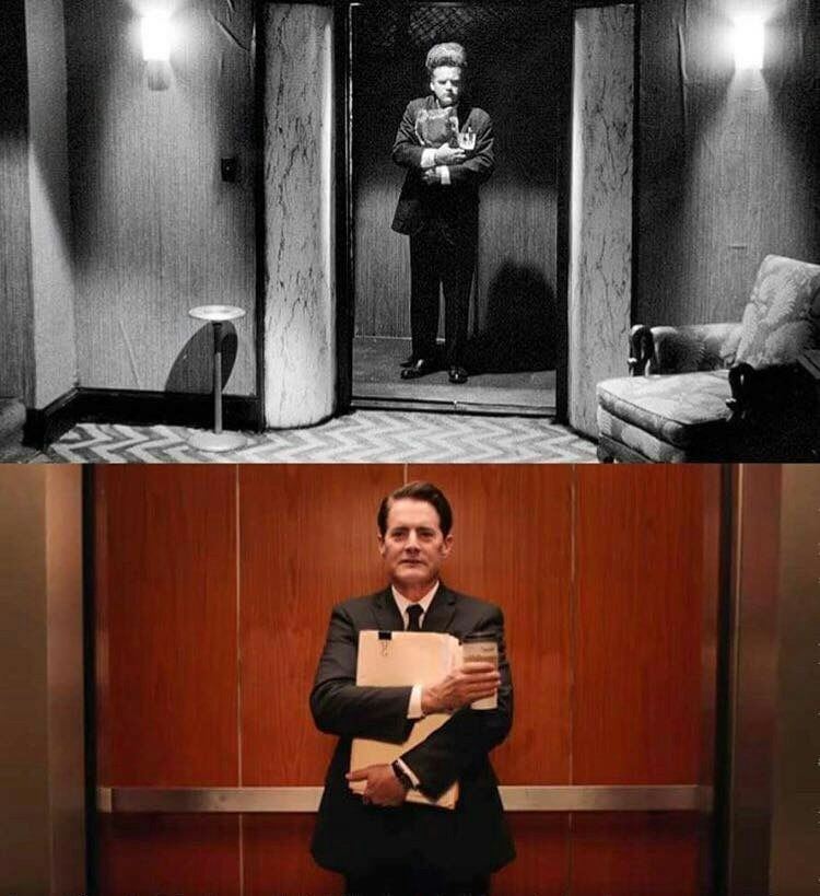 David Lynch making a reference to his own film. What a genius.