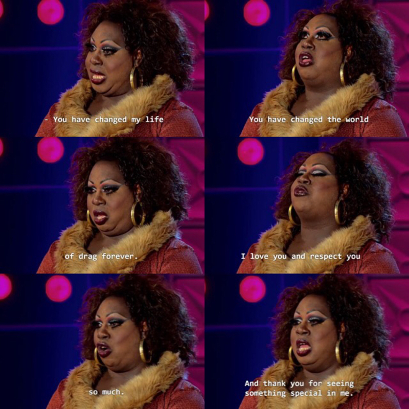 """""""She's large, in charge, chunky, yet funky, the bold and beautiful. I am Latrice Royale.""""  MARAVILHOSAAAA, tô muito triste por ela ter saído. ♥️ :("""