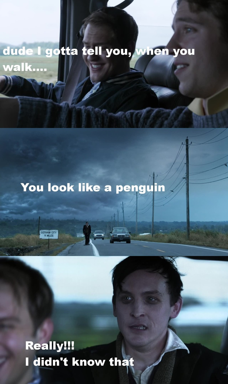 this penguin guy is funny.