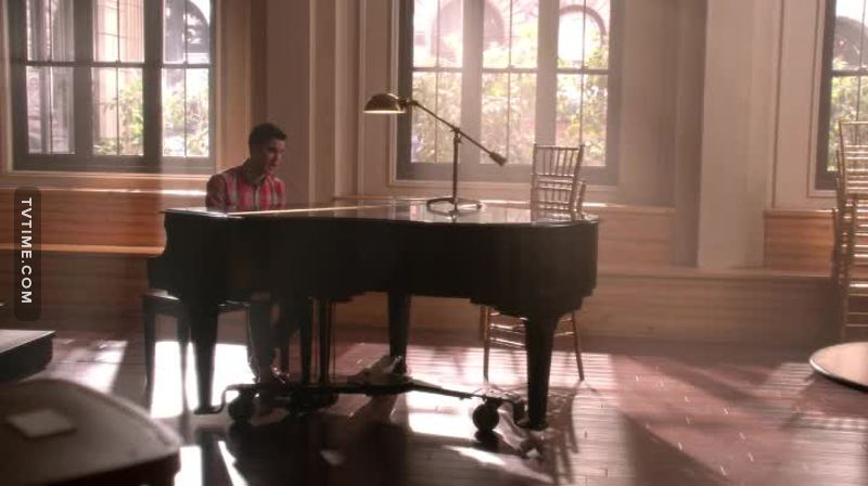 """""""All of me loves all of you, all your perfect imperfections...""""  Thank you Blaine for making me love this song even more😍"""