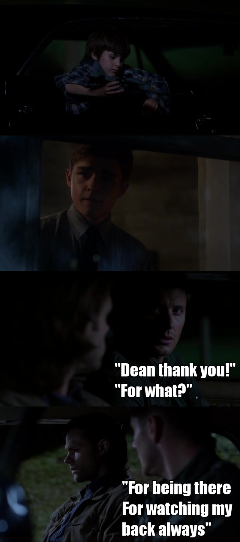 This episode is so damn sad but at the same time is so good and it represents perfectly the relationship between Dean and Sam. Dean is the best brother ever, and Sam knows that.
