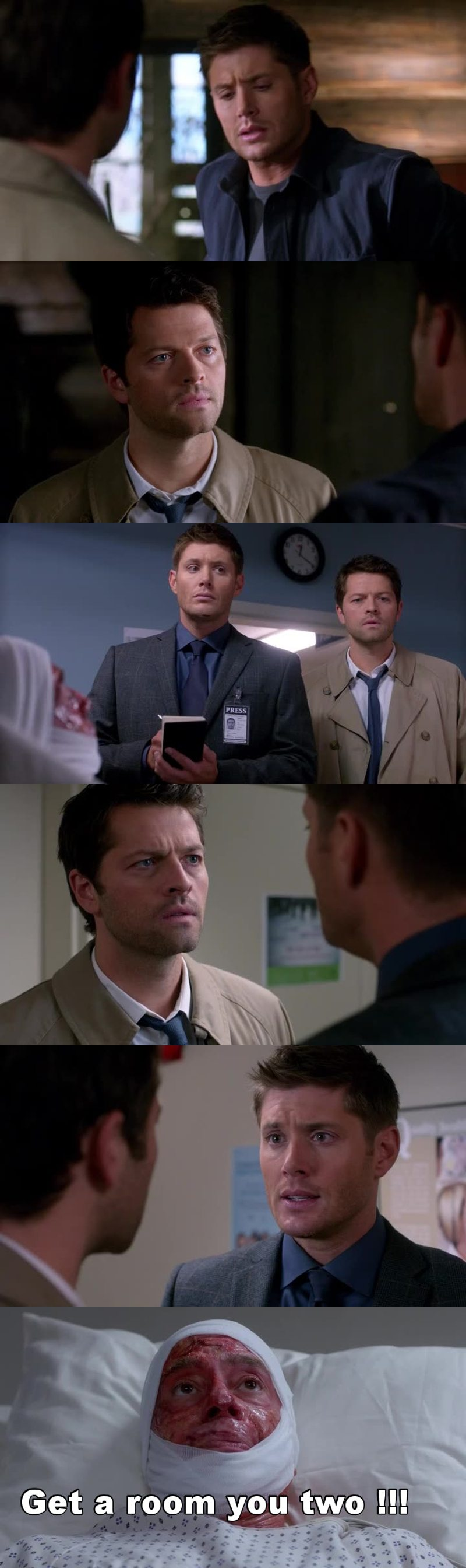 ladies and gentlemen winner of choice tv chemistry Destiel😍  Ship it for fucking everrr❤️❤️❤️