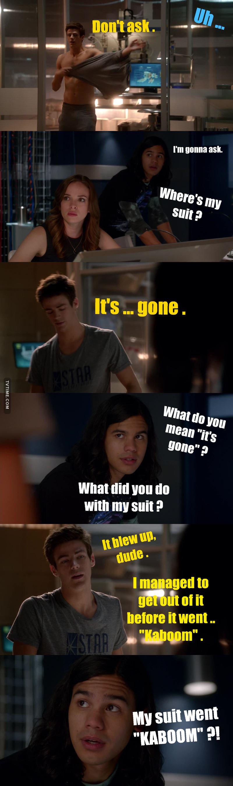 Funniest scene eveeeerrr 😂😂😂😂 !!  Cisco's reaction was priceless 👌😂
