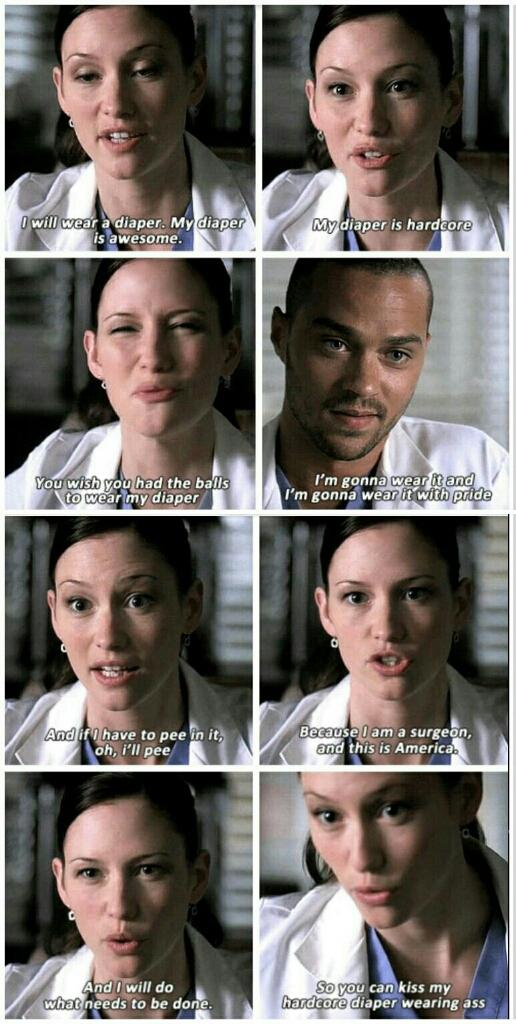 Questa scena 🔝 Lexie è stata davvero una Badass💪💪