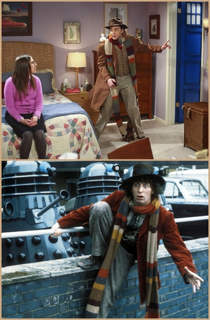 The 4th Doctor! They look like twins, don't they?😋