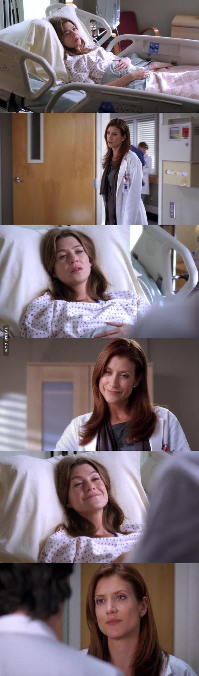 Eu gosto tanto dessas duas! a Addison falando q não odeia a Meredith e ainda pedindo pro Derek não machuca-la foi tão amorzinho. Queria que nasce uma amizade entre elas 💜😕