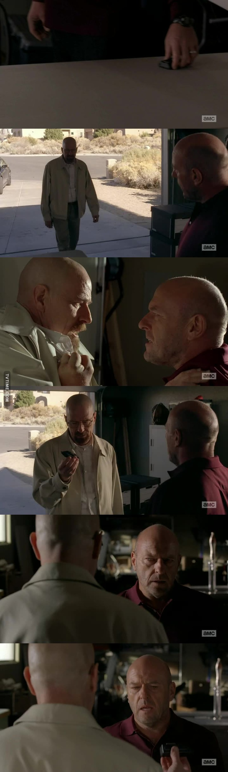 Woooow epic episode 😱😱 seriously I don't know who's better Hank or Walt I love them both I feel sad for them