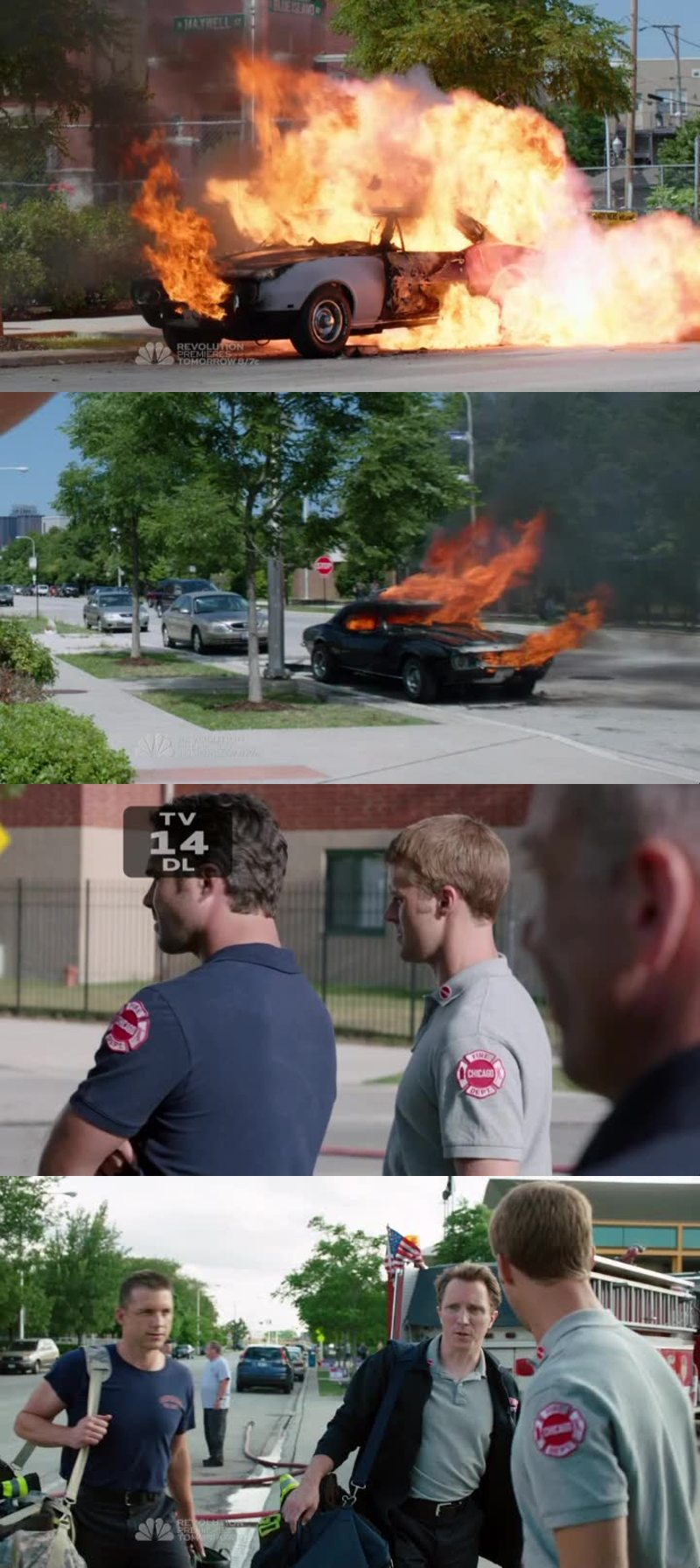 RIP Severide's Camaro. I have the feeling that is either that girl that almost pressed charges against Kelly on the first season or one of the new firefighters, because one of them are always finding those devices, can't remember the name.