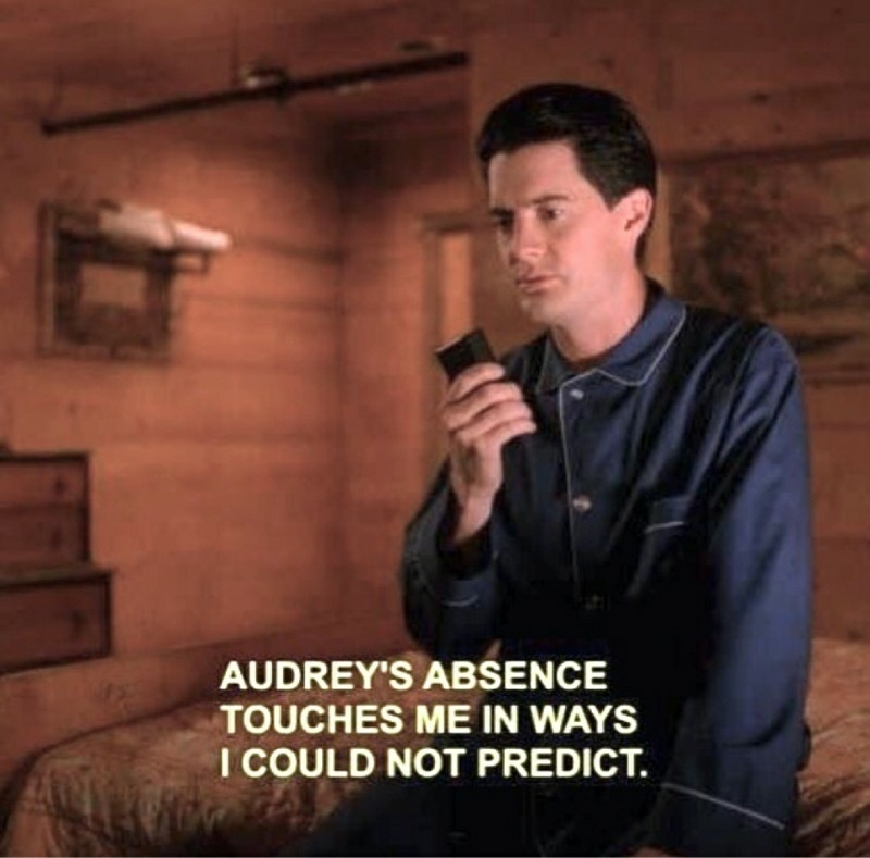 Part 9 to 18.  No news of Audrey Horne.