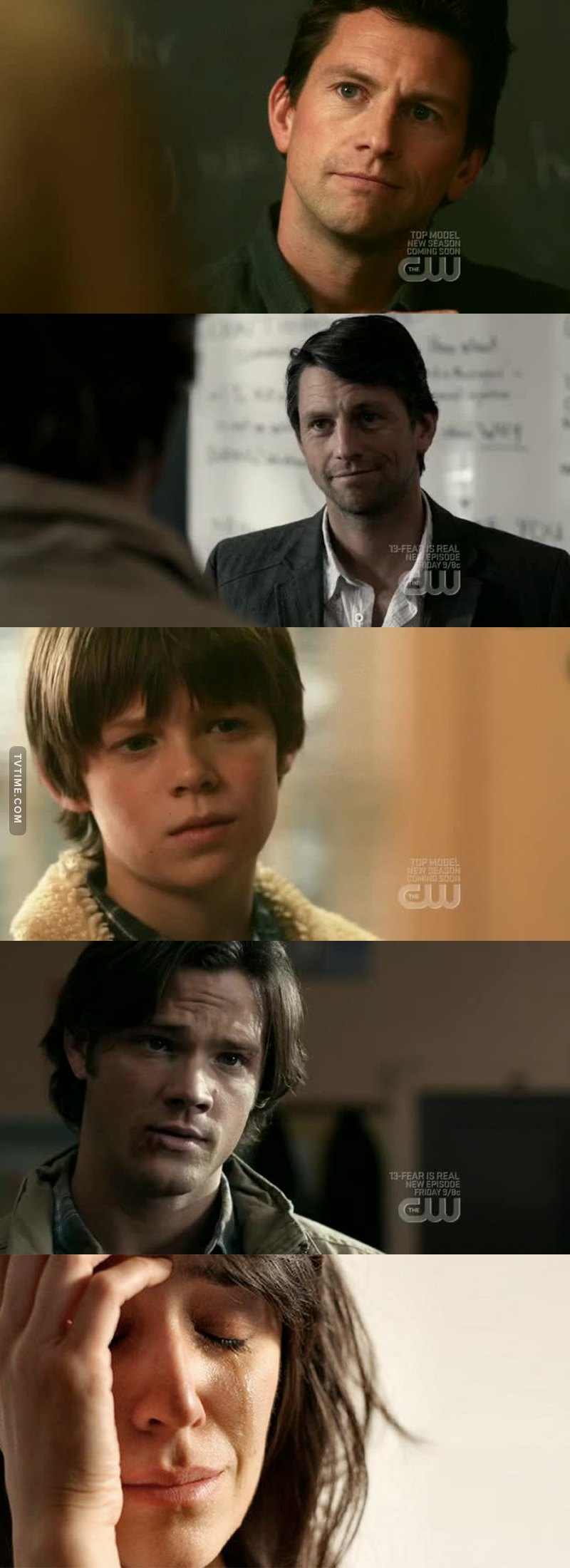 """""""You wanna go on the family business Sam ?"""" """"You're happy Sam ?"""" Why ? Why he is the only one to ask ? 😭"""