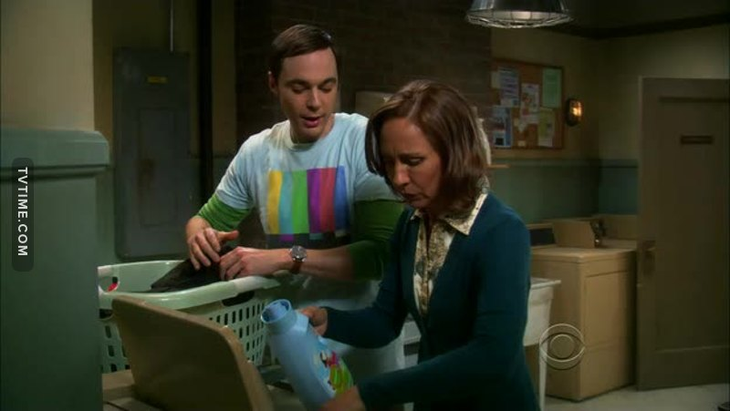 "You're using too much Downy, You know if my clothes are too soft it makes me sleepy"" 😂😂 Only Dr. Cooper(Sheldon) is too much."