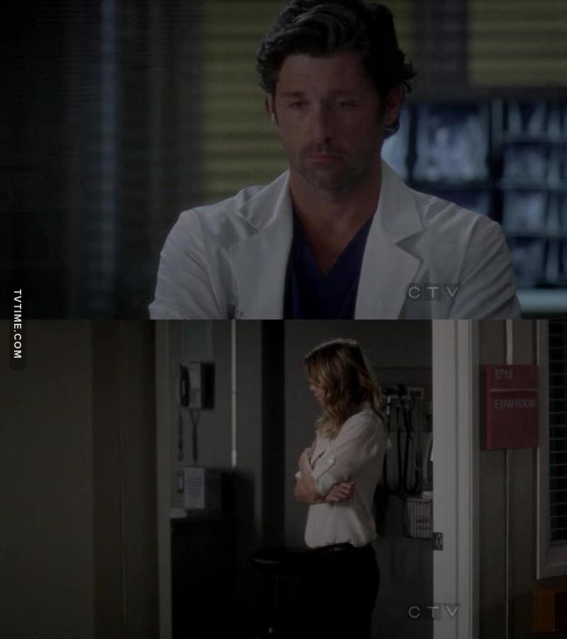 Sério, por que o Derek fez isso?? A Meredith evoluiu tanto na série por causa dele e ele fez um papel de mimado egoísta que preferiu perder a filha do que perdoar a esposa dele. Sério isso??? Se a Zola foi embora foi por culpa dele!! Ele foi um babaca nesse episódio.