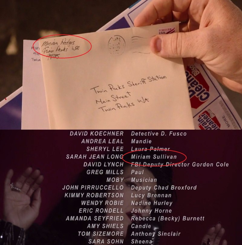 "The sender name is ""Miriam Wedger"", but in credits it's ""Miriam Sullivan"" (and it's definitely that woman). So, does it mean that Chad have mixed up and Sheriff'll receive the letter?"