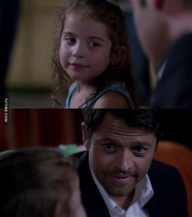 Castiel is adorable when he's with kids😍