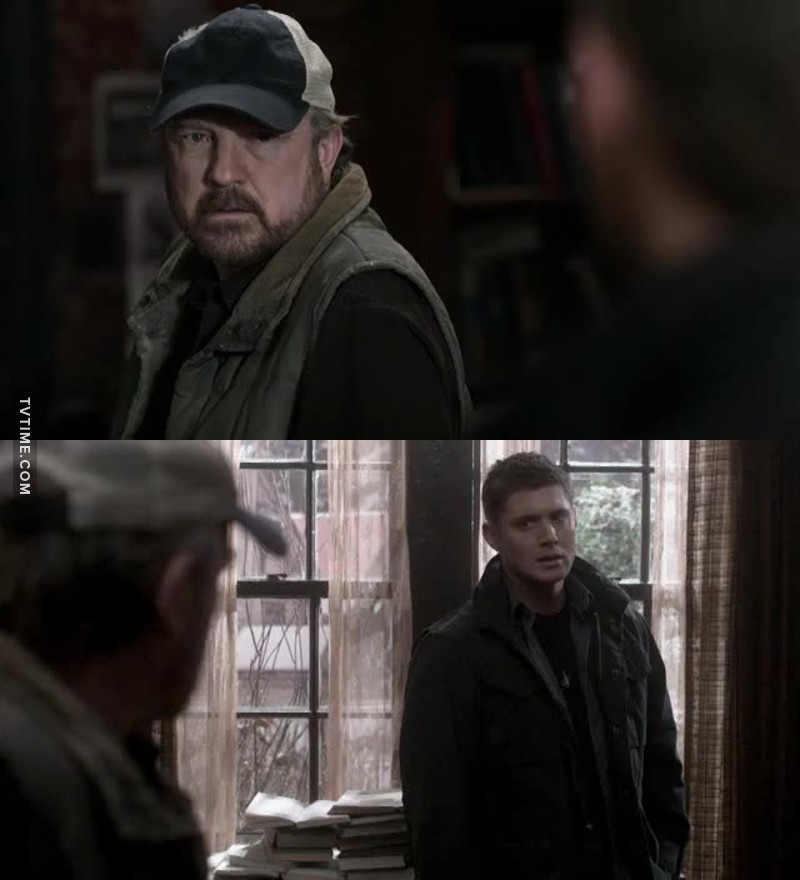 Dean: I tried to help him Bobby:Then try again . Dean:It's too late Bobby:There's no such thing   I so ADORE Bobby. Wise father figure.