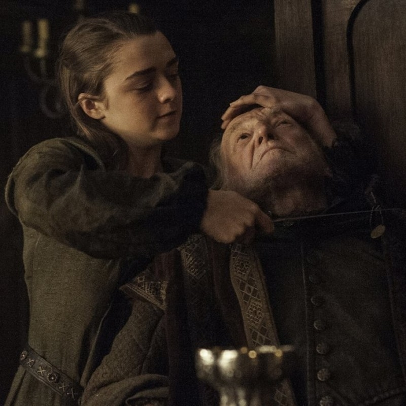 "Hot Pie: ""You've been making pies?"" Arya: ""One or two"
