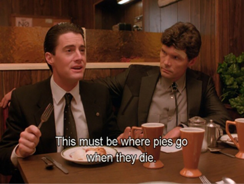 Dale Cooper's soul is so pure and genuine that his little white passions are bringing him back to life. Coffee and cherry pies will save the world. One step at a time, Coop. You're almost there. ☕️
