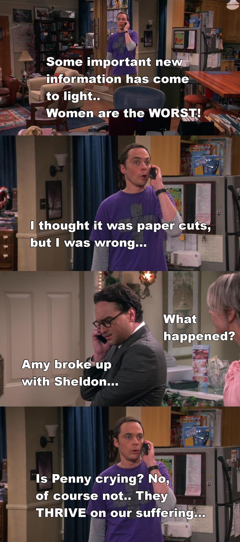 Naaahw haha, poor Sheldon