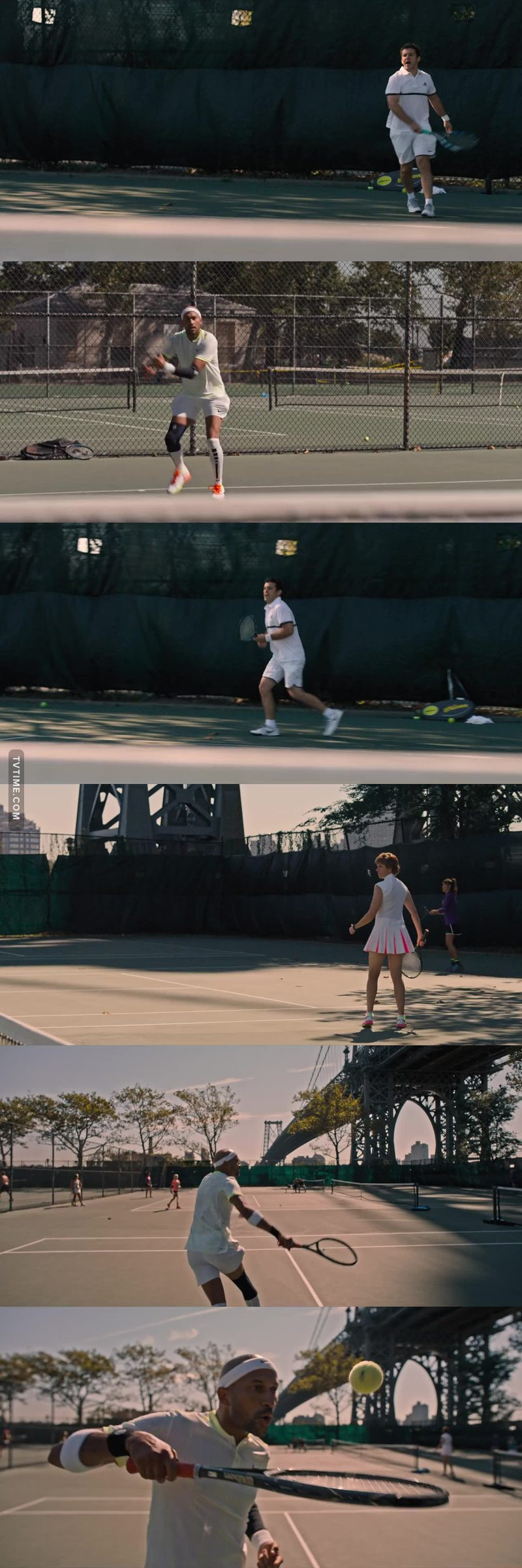 This scene was the funniest I've seen in a while, I was crying from laughter.. The noises they were making when playing tennis hahahahahahahahahah