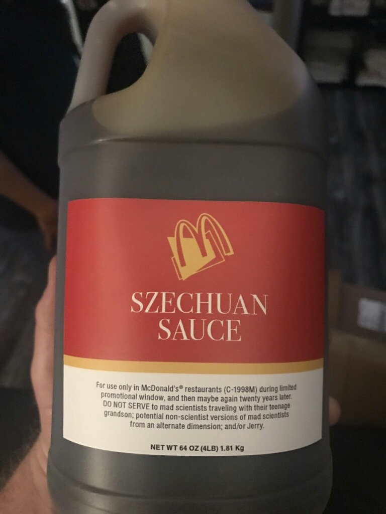 They got it, they got the Szechuan sauce!
