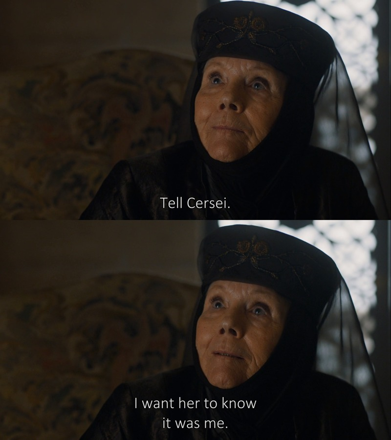 We've been waiting 7 years for Jon and Daenerys, somehow Lady Olenna stole the episode.