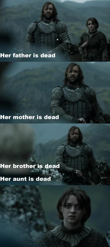 Best summary of the show by The Hound