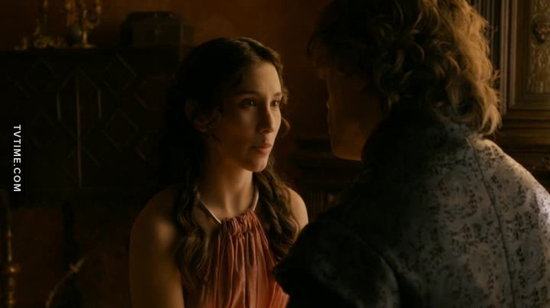 Shae really worries about Sansa Stark and really loves Tyrion Lannister   she is so cute...