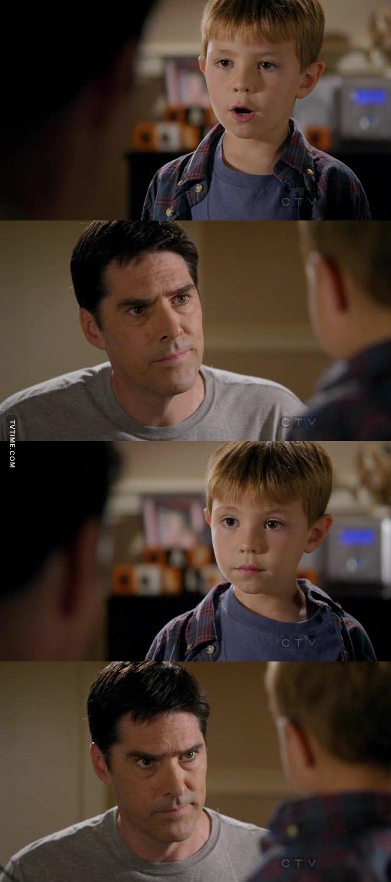 I love them. His look... I miss Hotch.