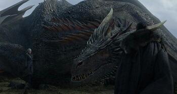 Drogon: He's alright Mom, I like this Jon Snow!