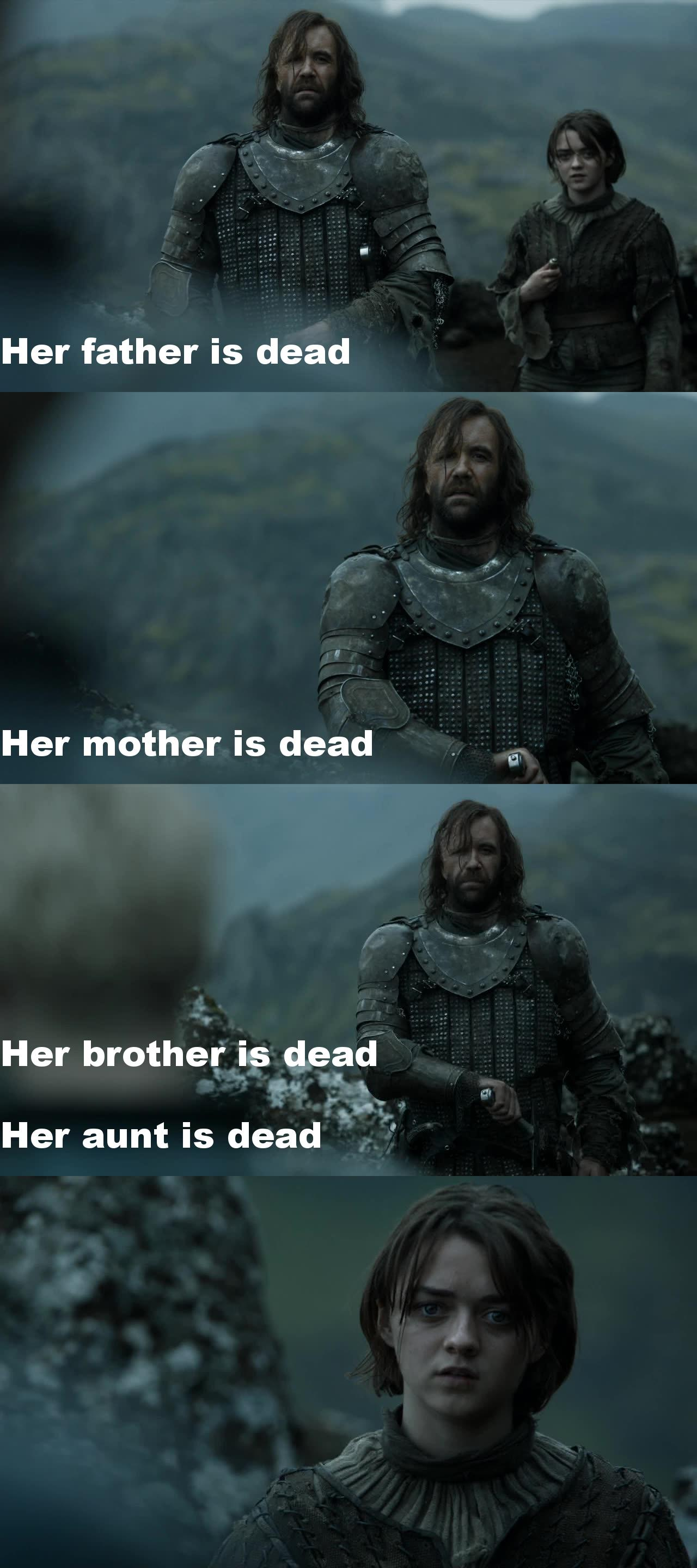 Best summary of the show by The Hound !
