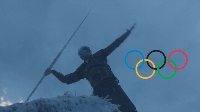 We still in 2017 while the night king in the 2018 winter olympics 😂