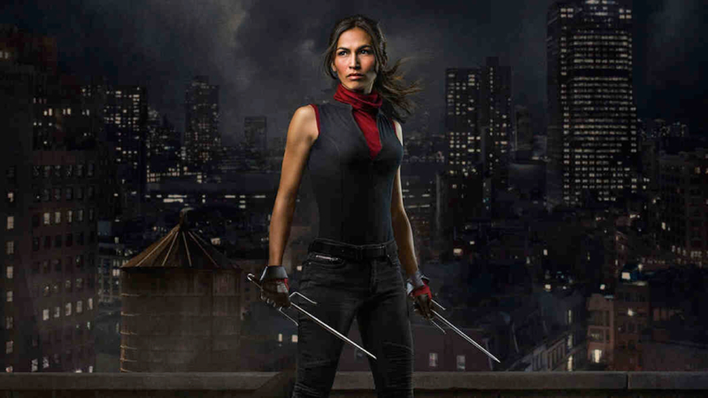 I know Elektra is on the wrong side of this but i jst love  A BADASS WOMAN who can fight.  The Dark skye.😎
