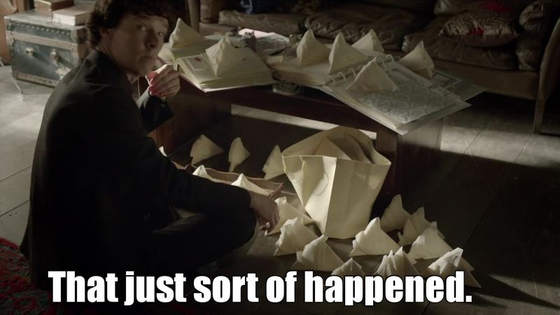 When you leave Sherlock alone during 30 seconds ..😂😂😂