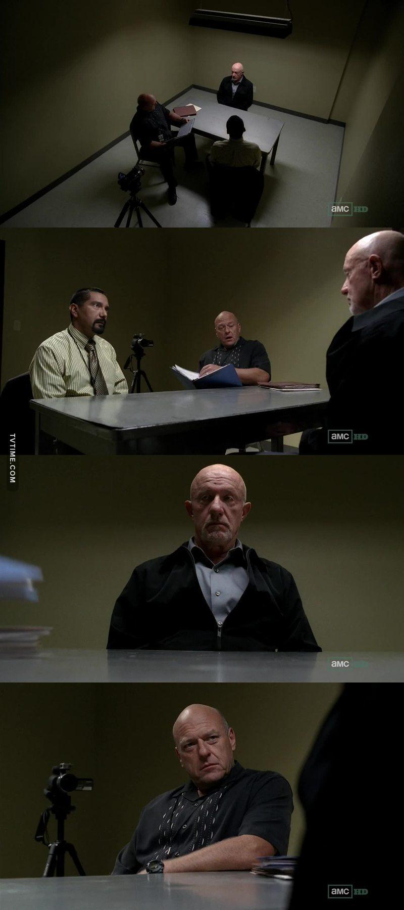 Hank vs mike. Such a good scene!