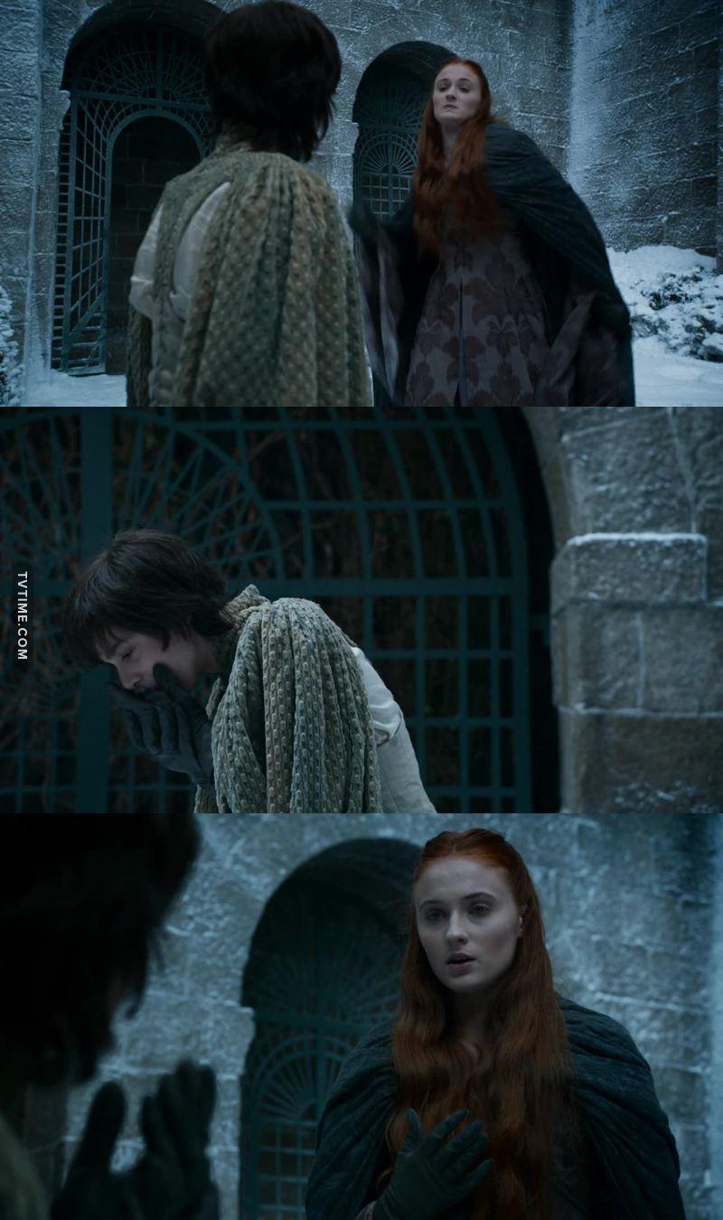 Il matrimonio di Sansa e Tyrion è servito a qualcosa. Ora anche Sansa schiaffeggia i bambini inutili.