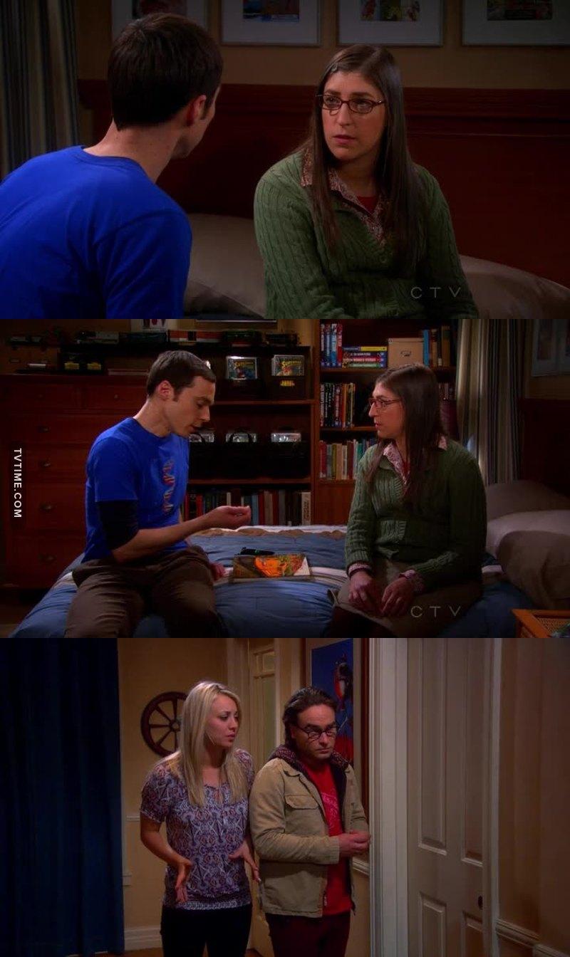 Shammy  😍 Isso foi praticamente fazer sexo para eles kkk o que prova que o Sheldon esta mudando ..❤❤