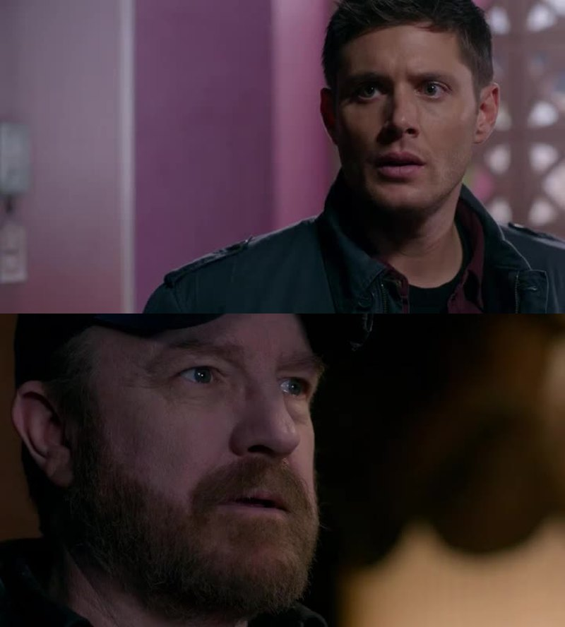 this scene took my breath away, and then I realized Dean hasn't seen Bobby and I started crying