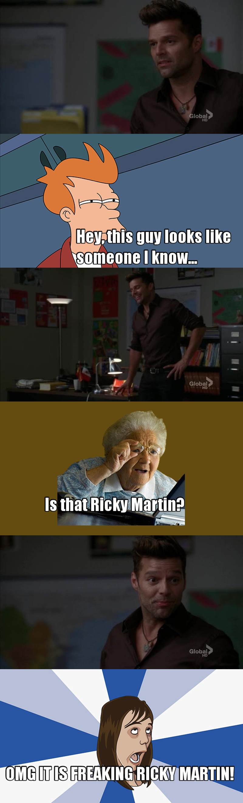 Ricky Martin in glee, I didn't see that coming.