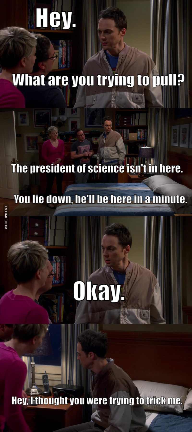 Poor sleepy Sheldon! President of Science 😂😂