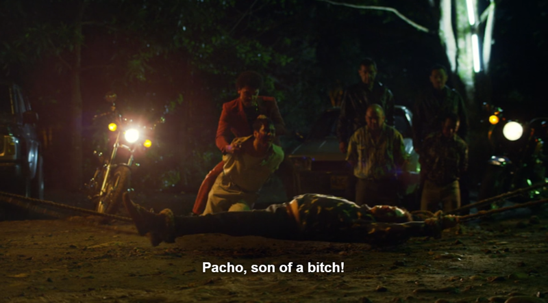Fucking hell! That is a brutal way to kill someone. Pacho may be a pretty face but he's one fucked up individual.