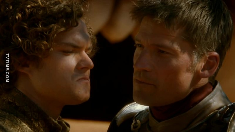 Jaime: Because you'll never marry her. Loras: And neither will you. BURRRRN!!! 🔥🔥🔥