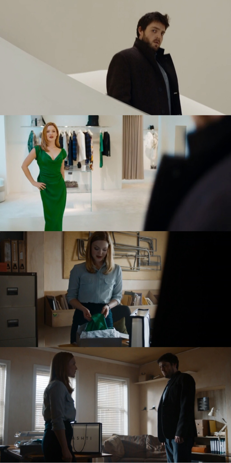 Robin looked so beautiful in the dress Cormoran had to buy for her.