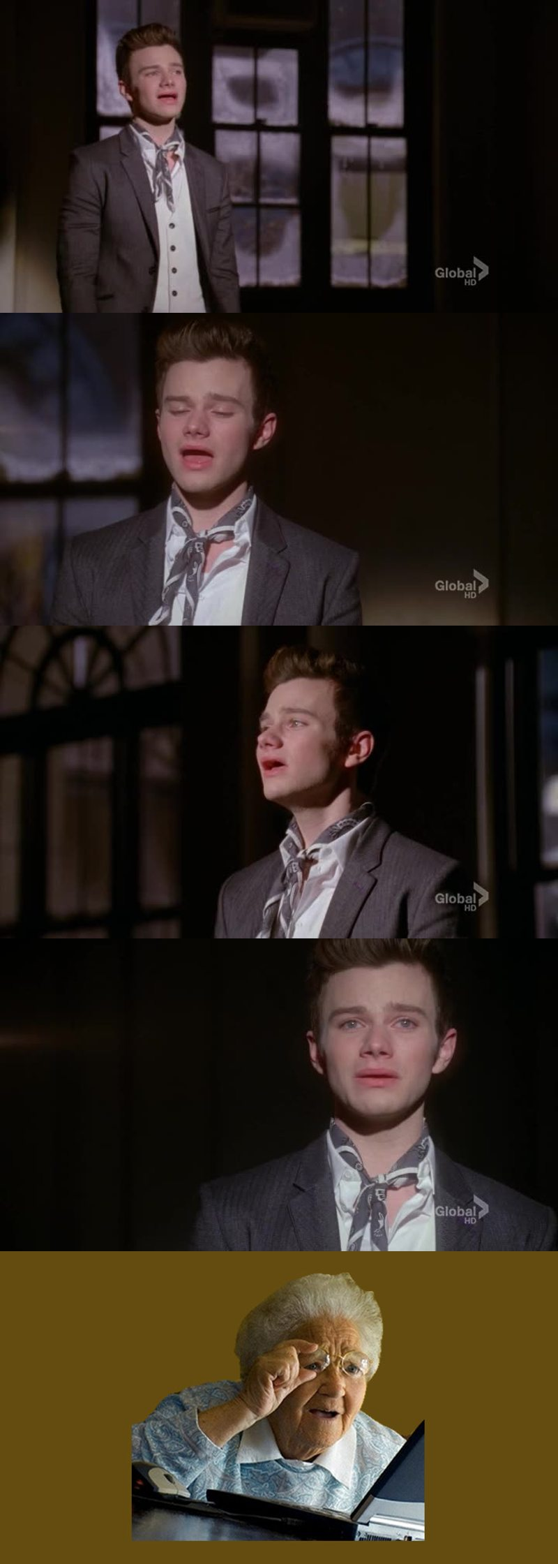 it's too weird how Kurt sings without showing his teeth