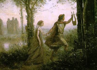 orpheus trying to save eurydice from the underworld, he couldn't look back or eurydice would die, he didn't succeed. orpheus couldn't resist look to eurydice to check if she was there, when he looked back, eurydice screamed and went back to the dead's world the similarities with cooper trying to save laura are undeniable