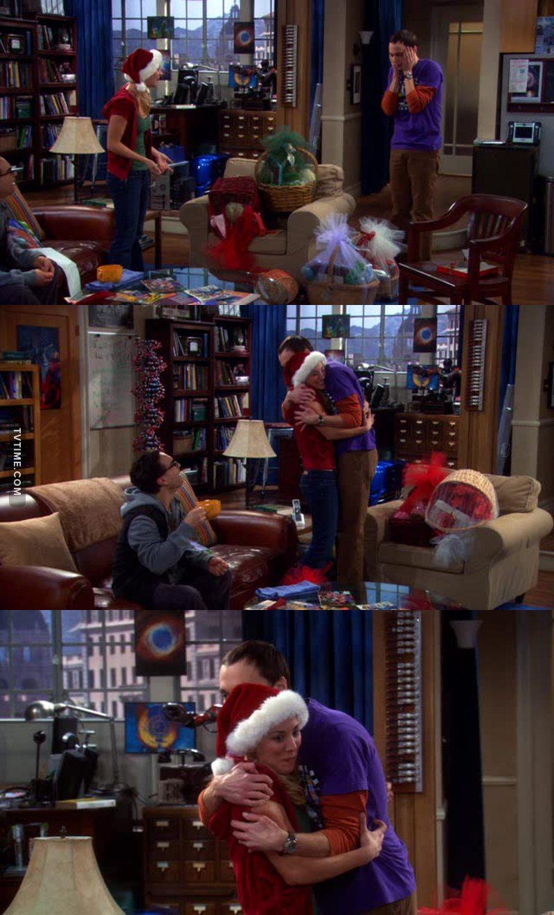 Sheldon's first hug:(.. Friendship goals ♥️
