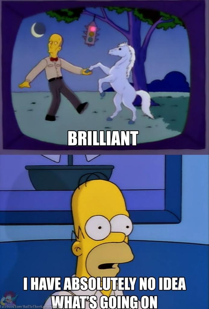Homer watching twin peaks is me