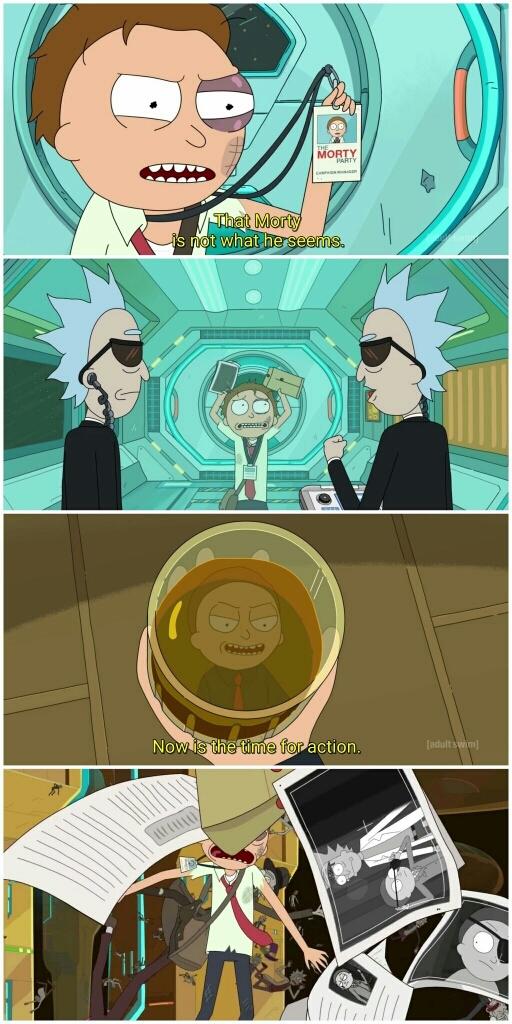 OMG!  It's him!!  The Evil F**king Morty!!! 😱😱😱