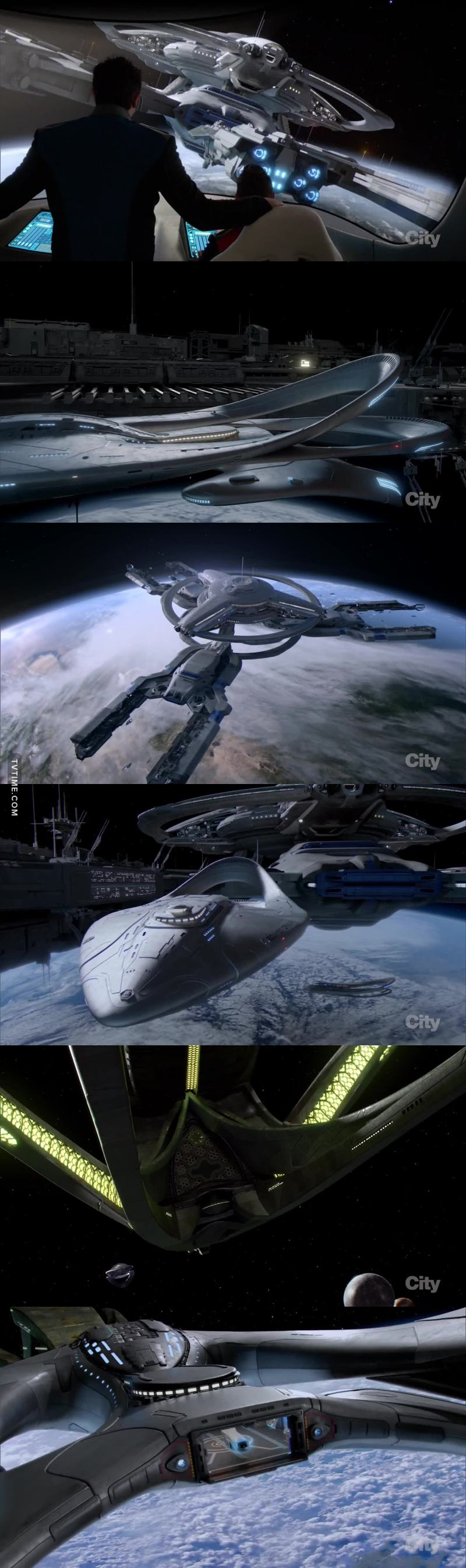 The visuals are quite stunning, I wasn't expecting that at all, and some of the ship designs are very good and memorable, credit where credit is due, props to the SFX team for some great CGI and designs.