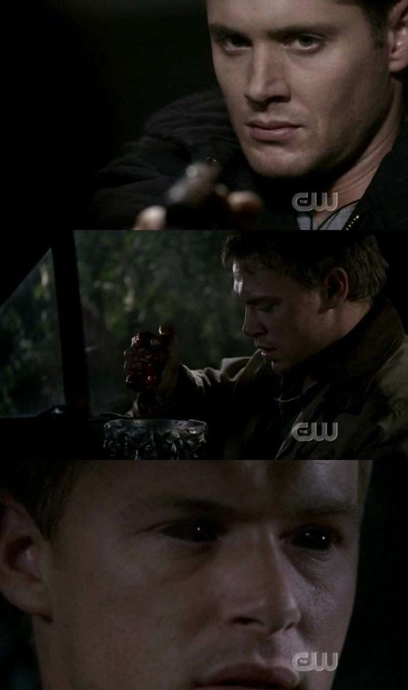 """at first I was like:""""I'm so proud of Dean for not killing him"""" at the end of the episode:""""YOU SHOULD HAVE KILLED HIM, DEAN!"""""""